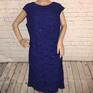 Lauren Ralph Lauren side cinch dress sequins 16